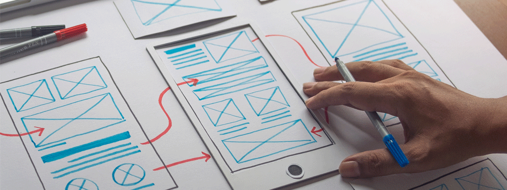 Wireframe for responsive website