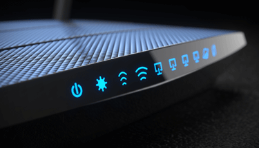 Black wireless router Featured