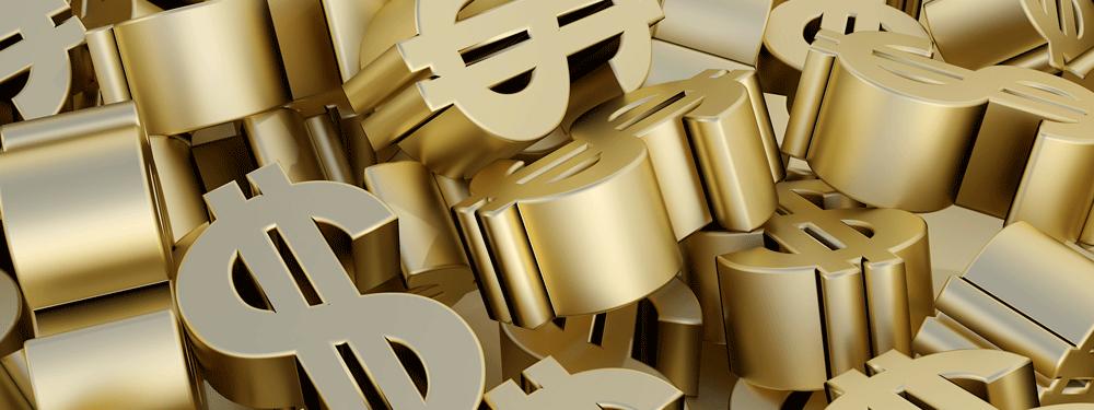 Gold Dollar Signs