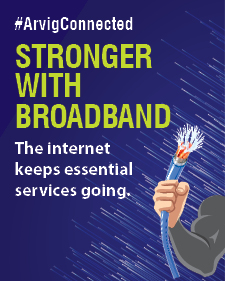 Stronger With Broadband Infographic Post