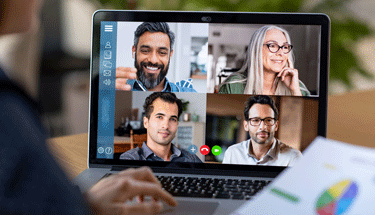 Business meeting over video chat Featured