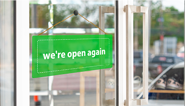 We're Open Again Featured