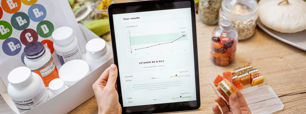 Biohacking health on tablet