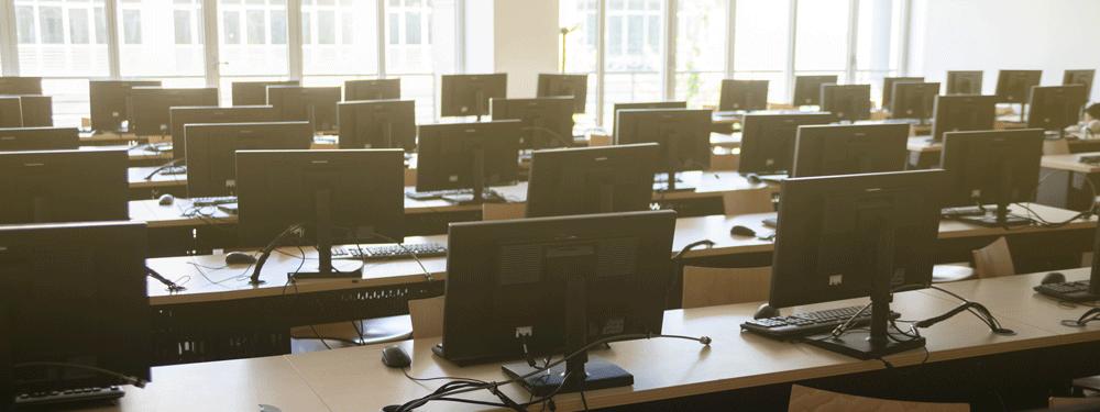 Empty computer lab