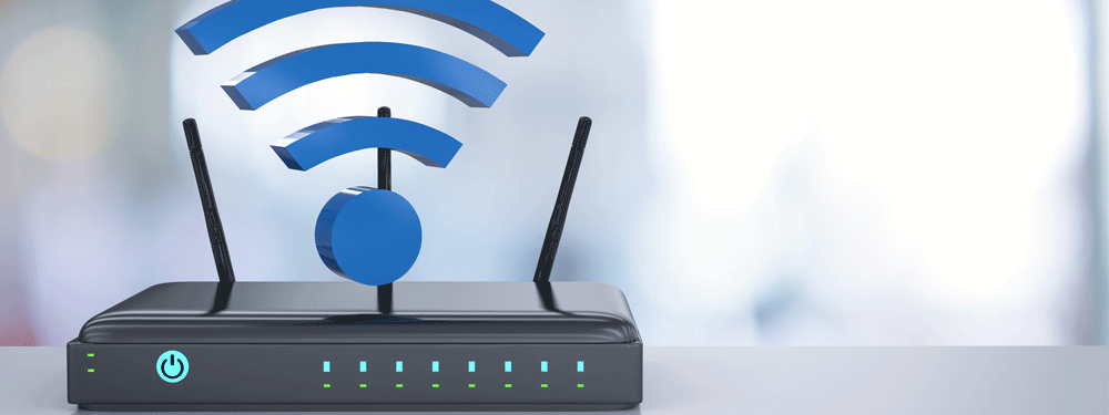Strong wifi signal from a router