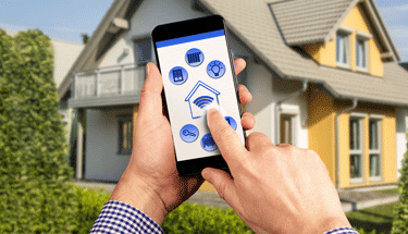 Smarthome with cell phone menu Featured