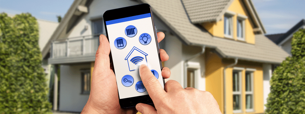 Smarthome with cell phone menu