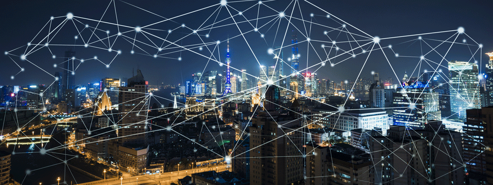 A city connected by IoT