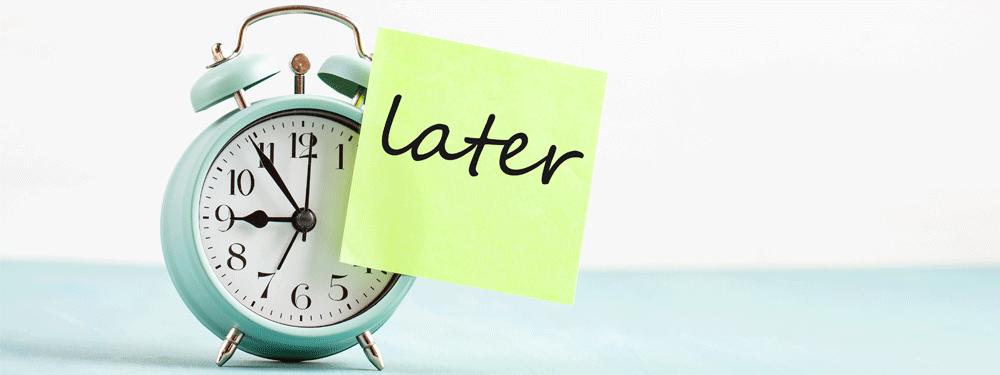 Alarm clock Post It Later