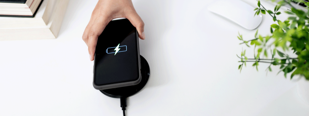 Charging a cell phone on a wireless charger