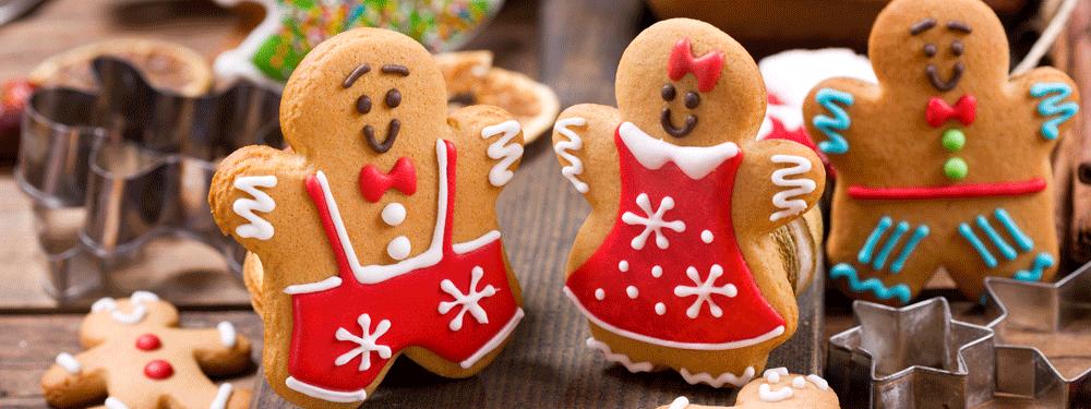Holiday cookies gingerbread men
