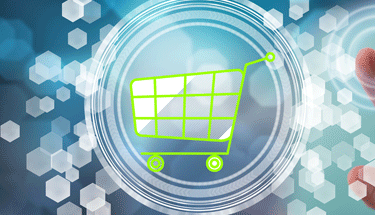Lime green shopping cart Featured