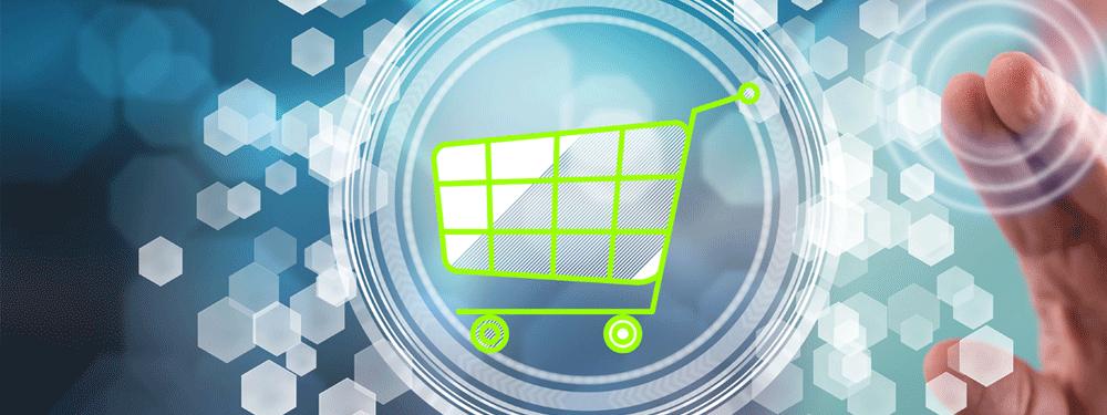 Lime green shopping cart