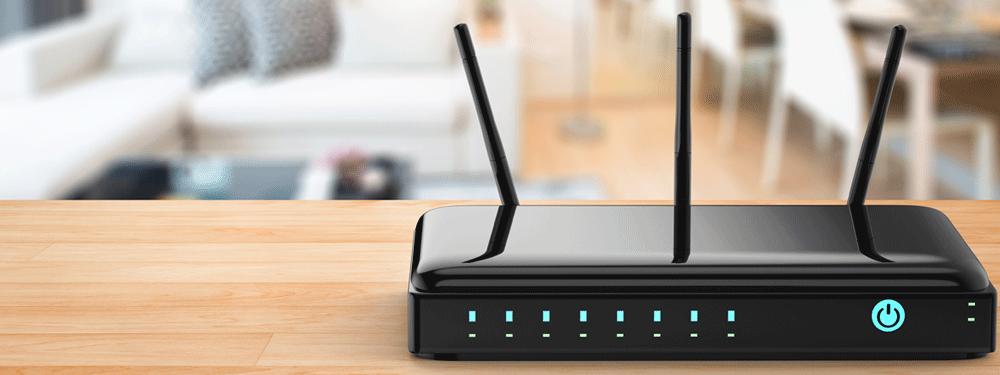 Black WiFi Router