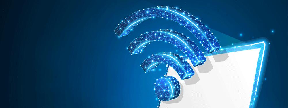 Blue WiFi Signal
