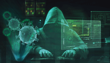 Hacker hacking computers during a pandemic Featured