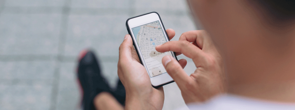 Finding phone on a map