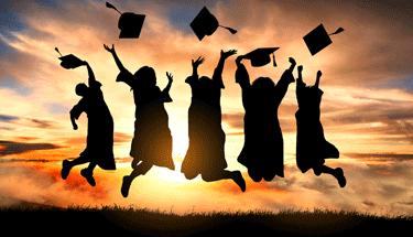Graduates celebrating Featured