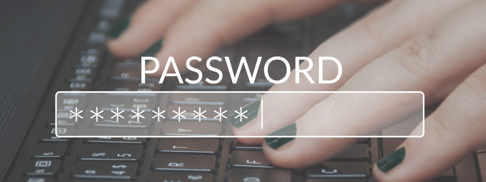 Secure password on a laptop