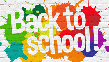 Back to school painted on a wall Featured