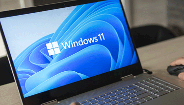 Windows 11 on a laptop Featured