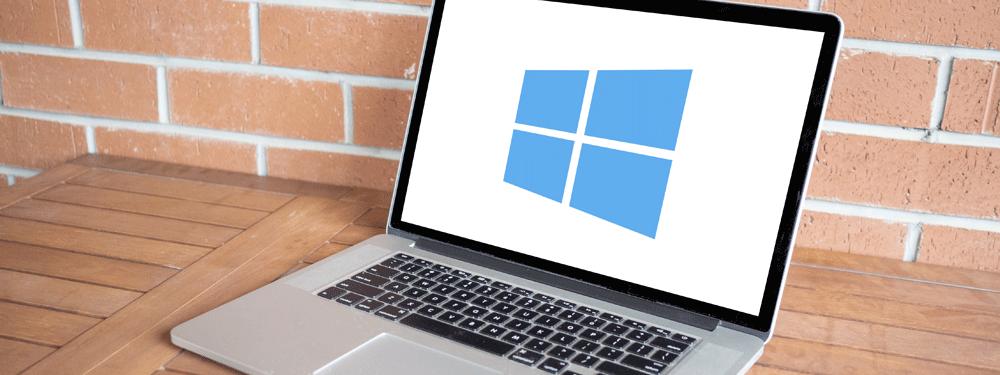 Windows logo on a laptop