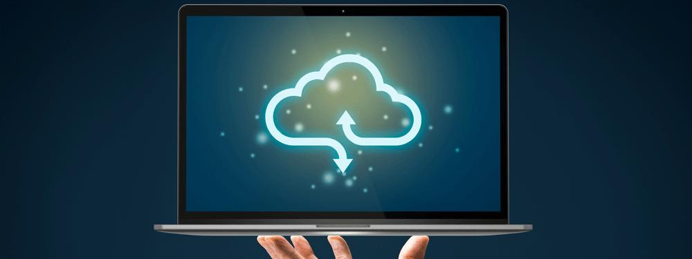 Cloud backup on a laptop