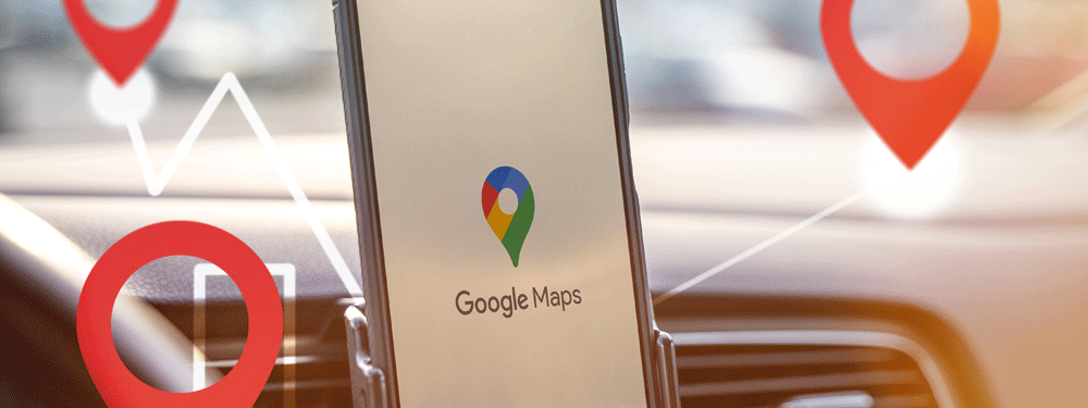 Google Maps on a cell phone