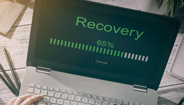 Recovery in process on a laptop Featured