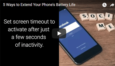 Video of phone showing Facebook