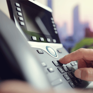Dialing on a Hosted PBX phone