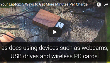 Video showing a USB drive