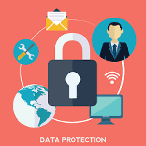 Lock showing data protection across the web