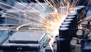 Electronic overheating with sparks Featured