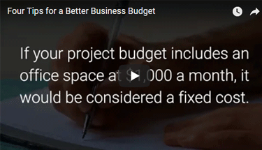 Video about business budget tips