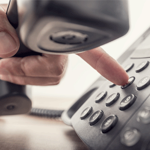 Dialing a land line phone