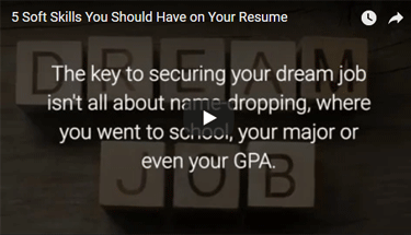 Video about what soft skills you should put on a resume