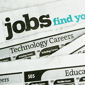Job search newspaper