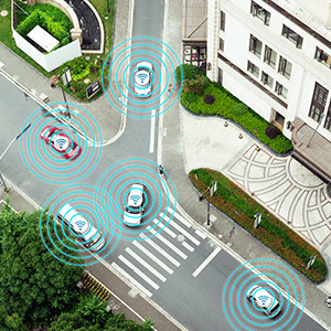 Sensors detecting vehicles surroundings