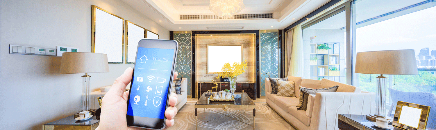 Cell phone controlling smart home