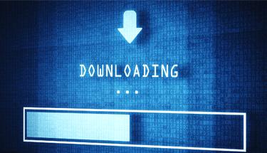 Blue downloading progress bar featured image