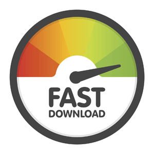 Speed test showing a fast download