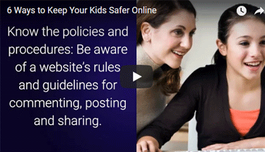 Video about ways to keep your kids safe online