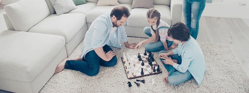 Family game night chess