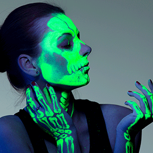 Glow in the dark paint Halloween