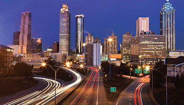 Atlanta City Skyline Featured