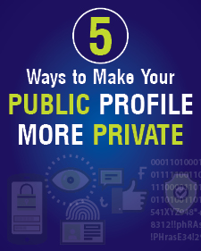 Infographic on blue background about public profiles