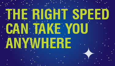 Right speeds can take you anywhere cartoon stars in universe
