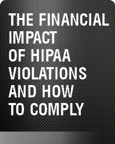 Financial impact of HIPAA violations