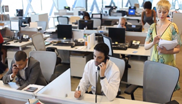 Busy office using HPBX phones